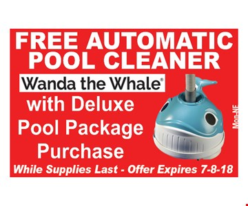 Free pool cleaner with purchase.