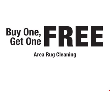 Buy One, Get One FREE Area Rug Cleaning.