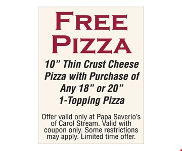 Free pizza. Free 10