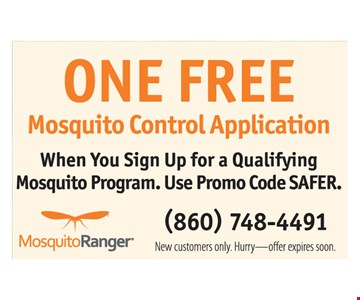 One FREE Mosquito Control Application