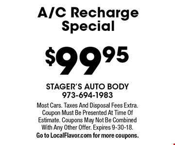 $99.95 A/C Recharge