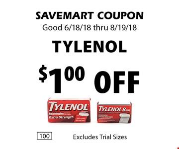 $1.00 Off tylenol . SAVEMART COUPON Good 6/18/18 thru 8/19/18