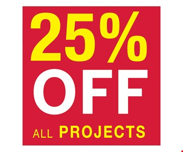 25% OFF all projects. Must present coupon at design consultation. Minimum purchase of $7,499 required, other restrictions apply. See website for details. PA-012954. Offer expires 6-30-18.