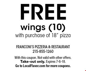 FREE wings (10)with purchase of 18