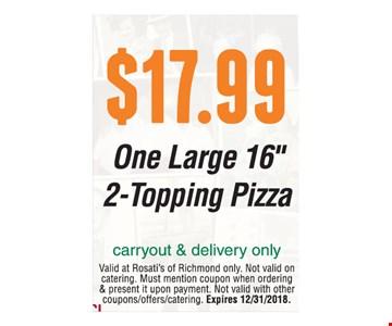 $17.99 One large 16