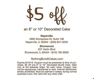$5 off any 8
