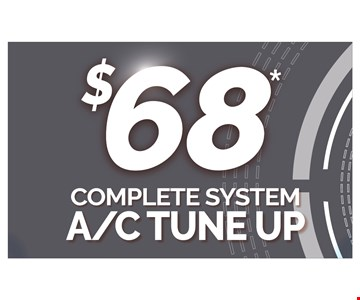 $68 complete A/C tune up. Cannot be combined with any other offers. Some restrictions apply. plus tax. Up to 1000 sq. ft. Expires 7/15/10 CSLB: 1011173