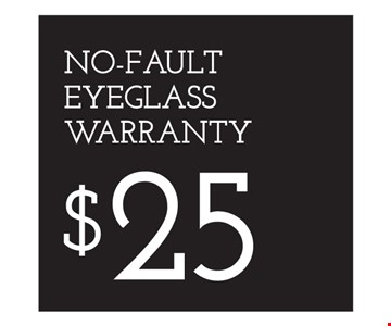 $25 No-Fault Warranty. *Eye examination reimbursement: Bring in a recent eye exam receipt from an Independent Doctor of Optometry at Sterling Optical (or any doctor), and we will subtract the exam costs (up to $98) from your complete pair of glasses. Eye examinations by licensed Doctor of Optometry LIC #0A04625, MO00318. Special testing, if required, is additional. **Frames from special selection with single-vision lenses. †Savings between $20-$100, based on full retail cost. ††Based on manufacturer's mail-in rebate, up to $200. See store for details as other restrictions may apply. Offers not combinable with insurance or other offers. Limited time offers.