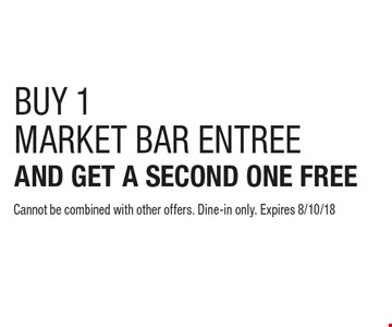 BUY 1MARKET BAR ENTREE AND GET A SECOND ONE FREE Cannot be combined with other offers. Dine-in only. Expires 8/10/18