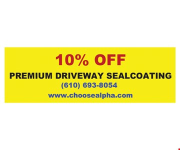 10% Off premium driveway sealcoating
