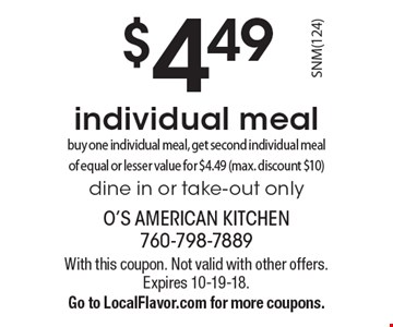 O S American Kitchen Coupon San Marcos