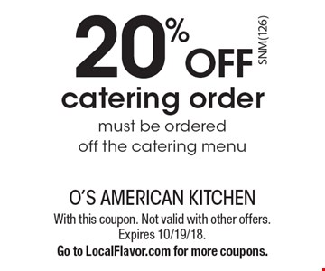 O S American Kitchen Mission Valley Coupons