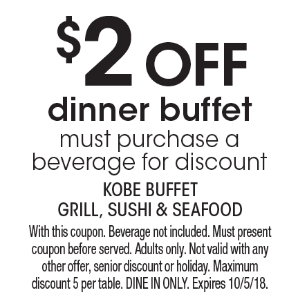 localflavor com kobe buffet grill sushi and seafood coupons rh localflavor com Kobe Orlando Coupons kobe buffet coupon foothill ranch