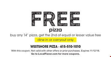 Today's best Coupons: Large deep dish Pizza for $ 9 Lou Malnati's Pizzeria Specials for December