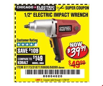 Chicago Electric Power tools 1/2