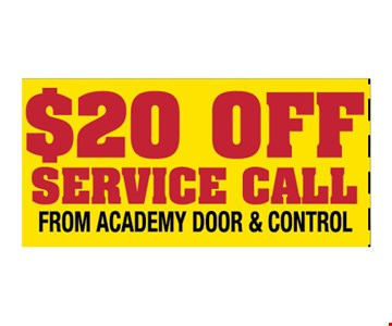 $20 Off Service Call.