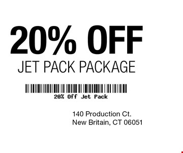 20% off Jeet Pack Package