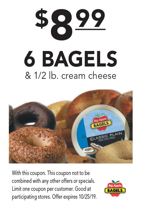 big apple bagels coupons york pa