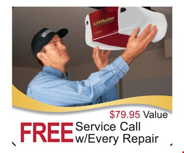 Free service call w/every repair $79.95 value Exp.12-31-18