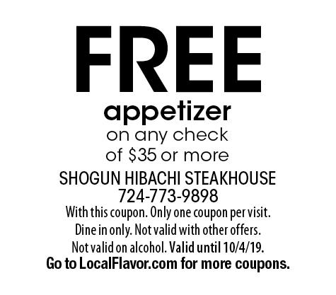 photo about Printable Coupons Shogun called - Shogun Hibachi Steakhouse Discount coupons