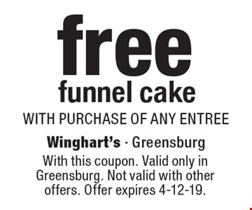 FREE kid's entree with purchase of any adult entree. With this coupon. 1 free kid's meal per coupon. Valid only in Greensburg. Not valid with other offers. Offer expires 4-12-19.