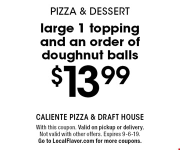 LocalFlavor com - Caliente Pizza and Draft House - $15 For