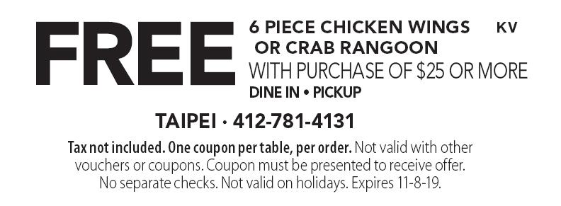 taipei pittsburgh coupons