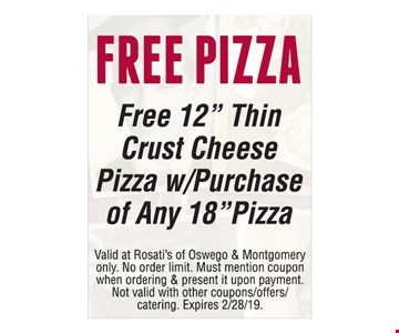 Free pizza. Free 12