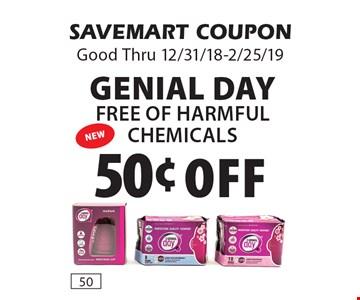 50¢ Off Genial DayFree of Harmful Chemicals. SAVEMART COUPONGood Thru 12/31/18-2/25/19