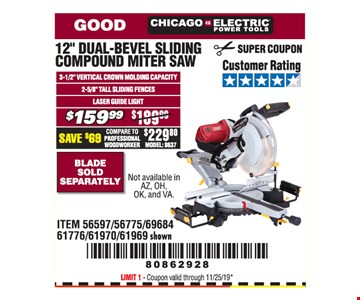 Chicago Electric Power Tools 12