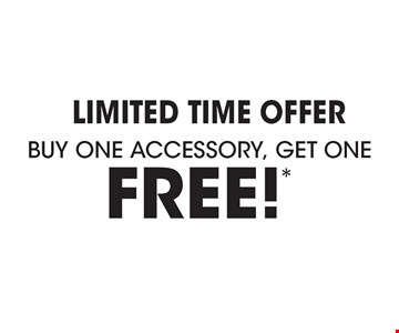 Limited Time Offer Buy one accessory, Get one FREE! **Offer applies to acrylic accessories, security bars and shower rods with purchase of a complete Bath Fitter system. Free item is of equal or lesser value. Must be used at time of estimate only. May not be combined with other offers or applied to previous purchases. Valid only at select locations. See store for details.