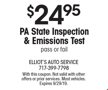 State Inspection Coupon >> Localflavor Com Elliot S Auto Service 24 95 For A Pa