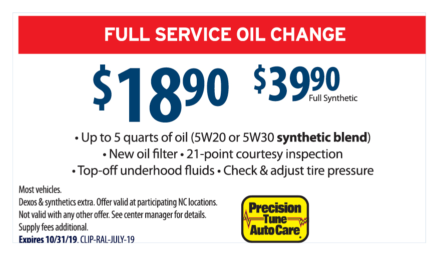 Oil Change Coupons - $19.90