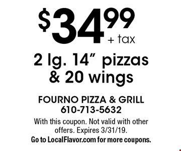 Everyday Special $5 OFF any order of $40 or more. With this coupon. Not valid with other offers. Expires 3/31/19. Go to LocalFlavor.com for more coupons.