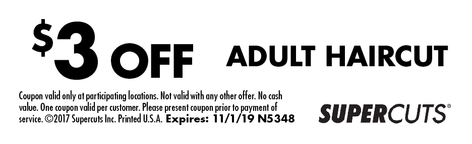 image relating to Supercuts Printable Coupons identify - Tremendous CUTS Discount codes