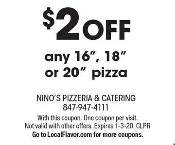 $2 off any 16
