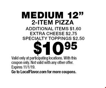 $10.95 medium 12