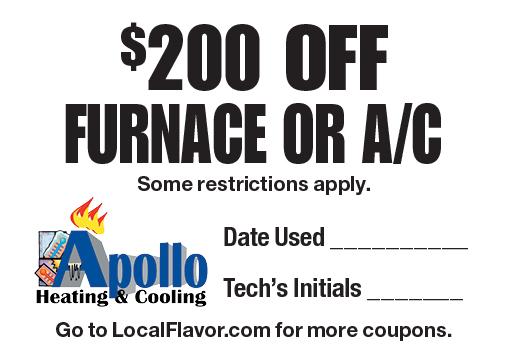 apollo heating coupons