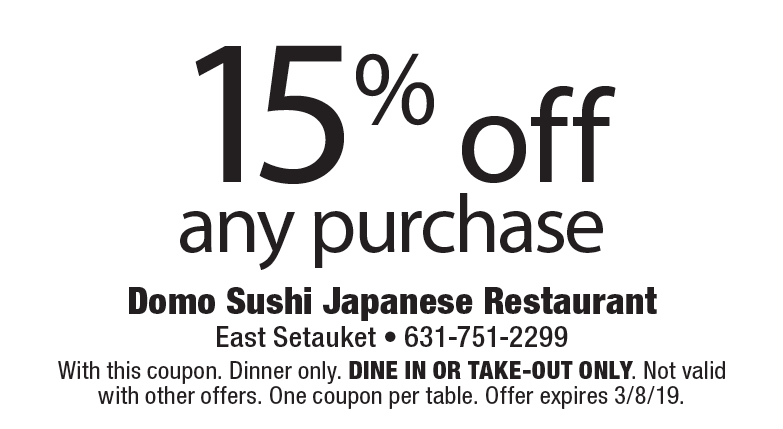 sushi domo coupon