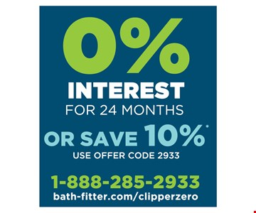 0% Interest For 24 Months Or Save 10%* Use offer code 2933. Tub-to-shower conversions and fiberglass replacements typically require a two-day installation. Lifetime warranty valid for as long as you own your home. *Offer ends 3/17/19. Minimum deposit required. Terms of promotional financing are 24 months of zero interest from the date of purchase. Must schedule installation within 10 weeks of estimate date. Full purchase must be paid in full within 24 months of purchase date. See representative for details. Qualified buyers only. All offers must be presented and used at time of estimate only. May not be combined with other offers or applied to previous purchases. Valid only at select Bath Fitter locations. Offers and warranty subject to limitations. Fixtures and features may be different than pictured. Accessories pictured are not included. Plumbing work done by P.U.L.S.E. Plumbing. Daniel Paul Hemshrodt MD MPL 17499, Richard D. Reustle Jr. NJ MPL 10655, Richard D. Reustle Jr. DE MPL PL-0002303, Richard D. Reustle Jr. MD MPL 82842, Daniel Paul Hemshrodt VA MPL 2710064024, PA HIC PA017017, NJ HIC 13VH03073000, WV HIC WV053085, MD HIC 129346, VA HIC 2705155694, MD HIC122356,VA HIC #2705096759. Each Franchise Independently Owned And Operated By Bath Saver, Inc.