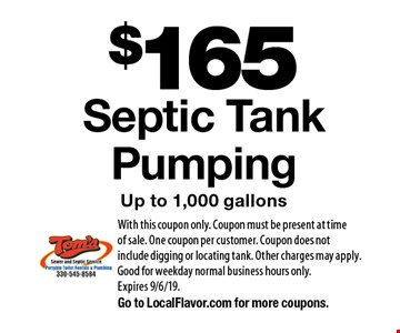 LocalFlavor com - Toms Sewer And Septic Service Coupons