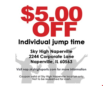 $5 off individual jump time