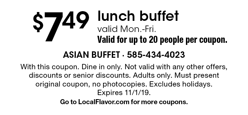 asian buffet coupons rochester ny
