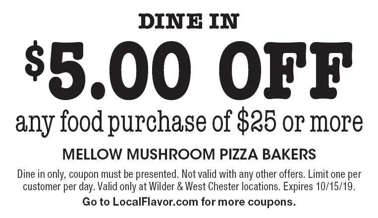 picture about Mellow Mushroom Printable Coupons identified as - Mellow Mushroom Coupon codes