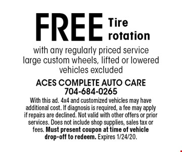 Oil change $15 Off Full synthetic. $10 Off Synthetic blend. With this ad. Includes up to 5 quarts of oil. Additional oil and cartridge filters have additional cost. Not including diesel engines. Not valid with other offers or prior services. Does not include shop supplies, sales tax or fees. Must present coupon at time of vehicle drop-off to redeem. Expires 1/24/20.