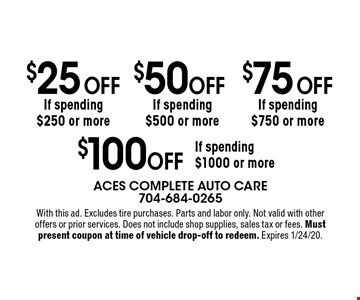 FREE tire rotation with any regularly priced service. With this ad. 4x4 and customized vehicles may have additional cost. If diagnosis is required, a fee may apply if repairs are declined. Not valid with other offers or prior services. Does not include shop supplies, sales tax or fees. Must present coupon at time of vehicle drop-off to redeem. Expires 1/24/20.