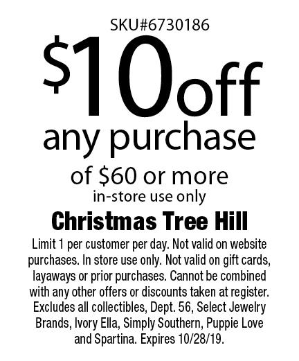 christmas tree hill shop coupon