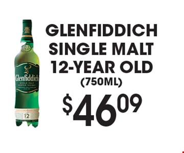 $46.09 Glenfiddich single malt 12-year old(750ML).