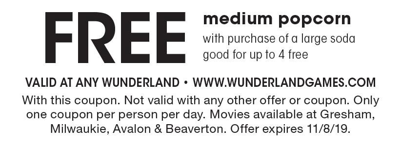 Free Wunderland gresham coupons