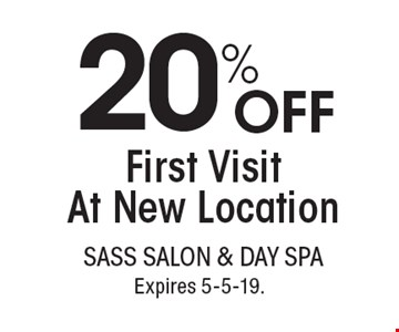 20% OFF First Visit At New Location. With this coupon. Not valid with other offers or prior services. Go to LocalFlavor.com for more coupons.Expires 5-5-19.